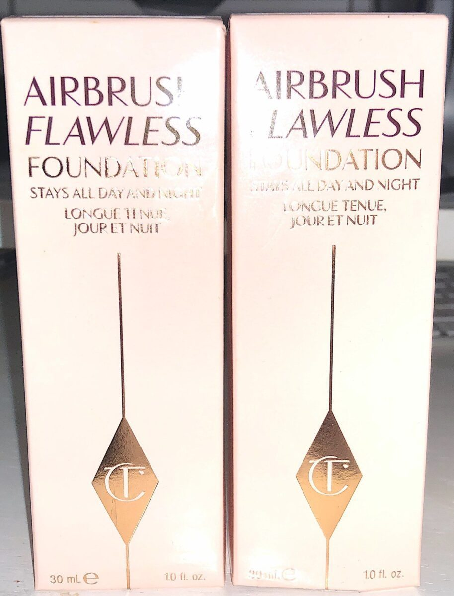 CT Airbrush Flawless Foundation outer box packaging