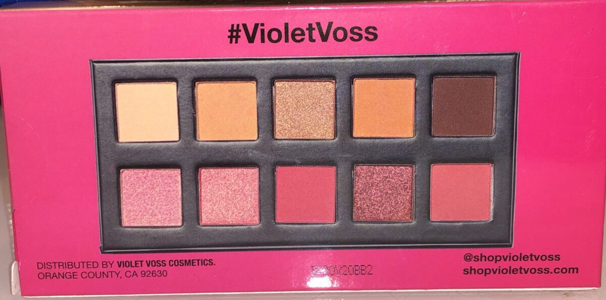 the back of the Violet Voxx Berry Burst Eyeshadow's outer box