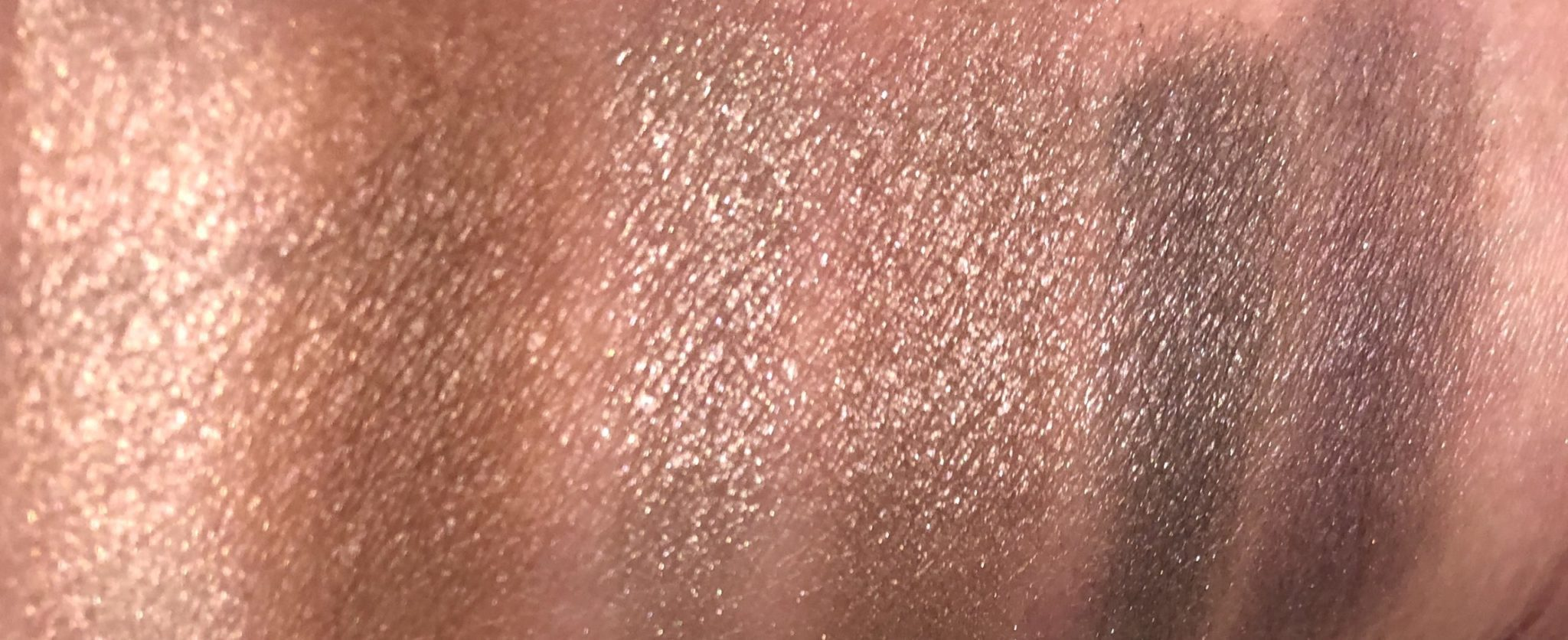 MORE MOONLIT/VIOLET SWATCHES L TO R: HIGHLIGHTER/ CONTOUR-DEFINER/ AND EYESHADOW QUAD
