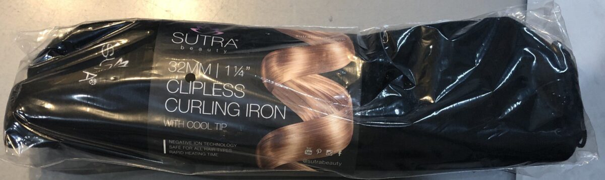 SUTRA CLIPLESS CURLING IRON PACKAGING