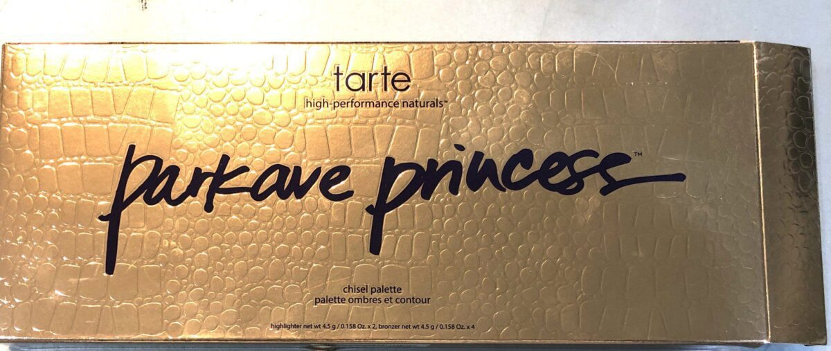 TARTE PARK AVENUE PRINCESS PALETTE PACKAGING