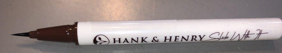 HANK AND HENRY BLICKETY BLACK LIQUID EYELINER HAS A FELT TIP APPLICATOR