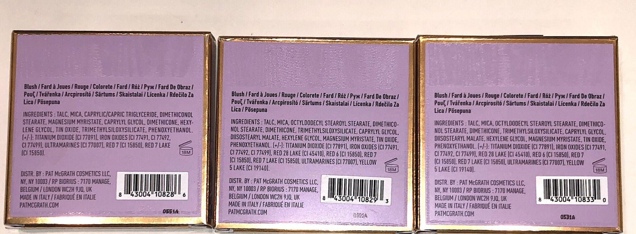 PAT MCGRATH DIVINE ROSE NUDE FLEURTATION BUNDLE L TO R: FLEURTATIOUS, NUDE VENUS, AND DESERT ORCHID