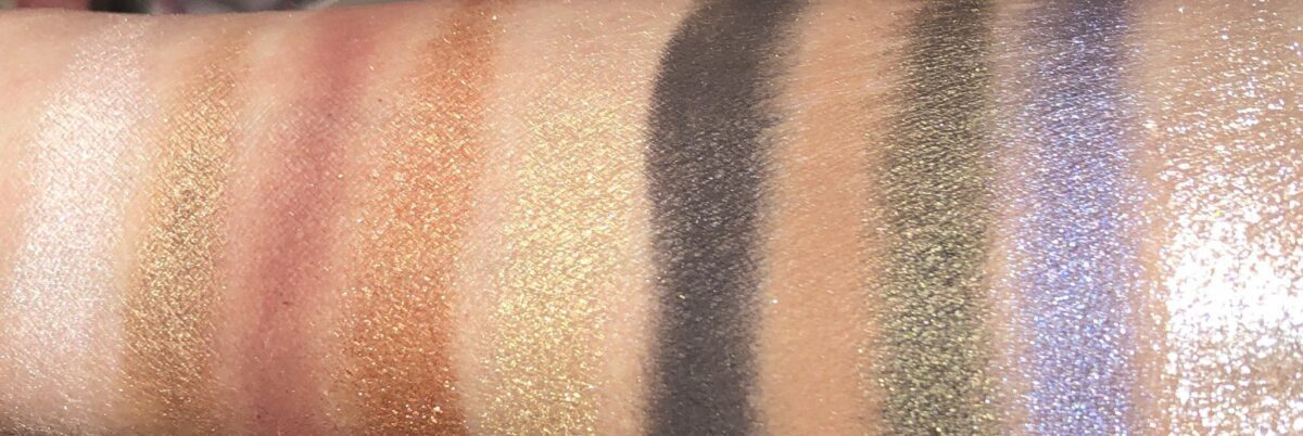ALL OF THE SHADES IN THE MOTHERSHIP VI MIDNIGHTSUN PALETTE SWATCHED