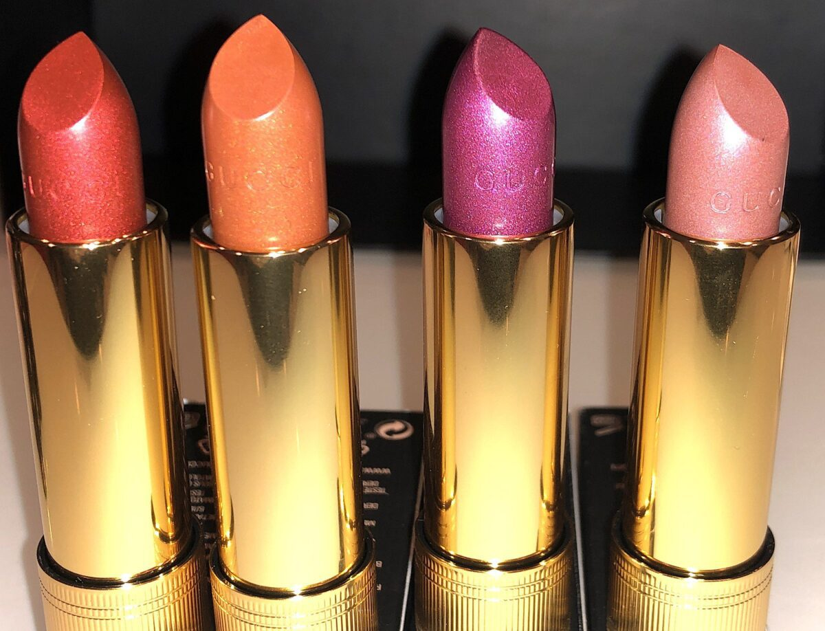 THE SHARP EDGE ON THE GUCCI GOTHIQUE LIPSTICK BULLET