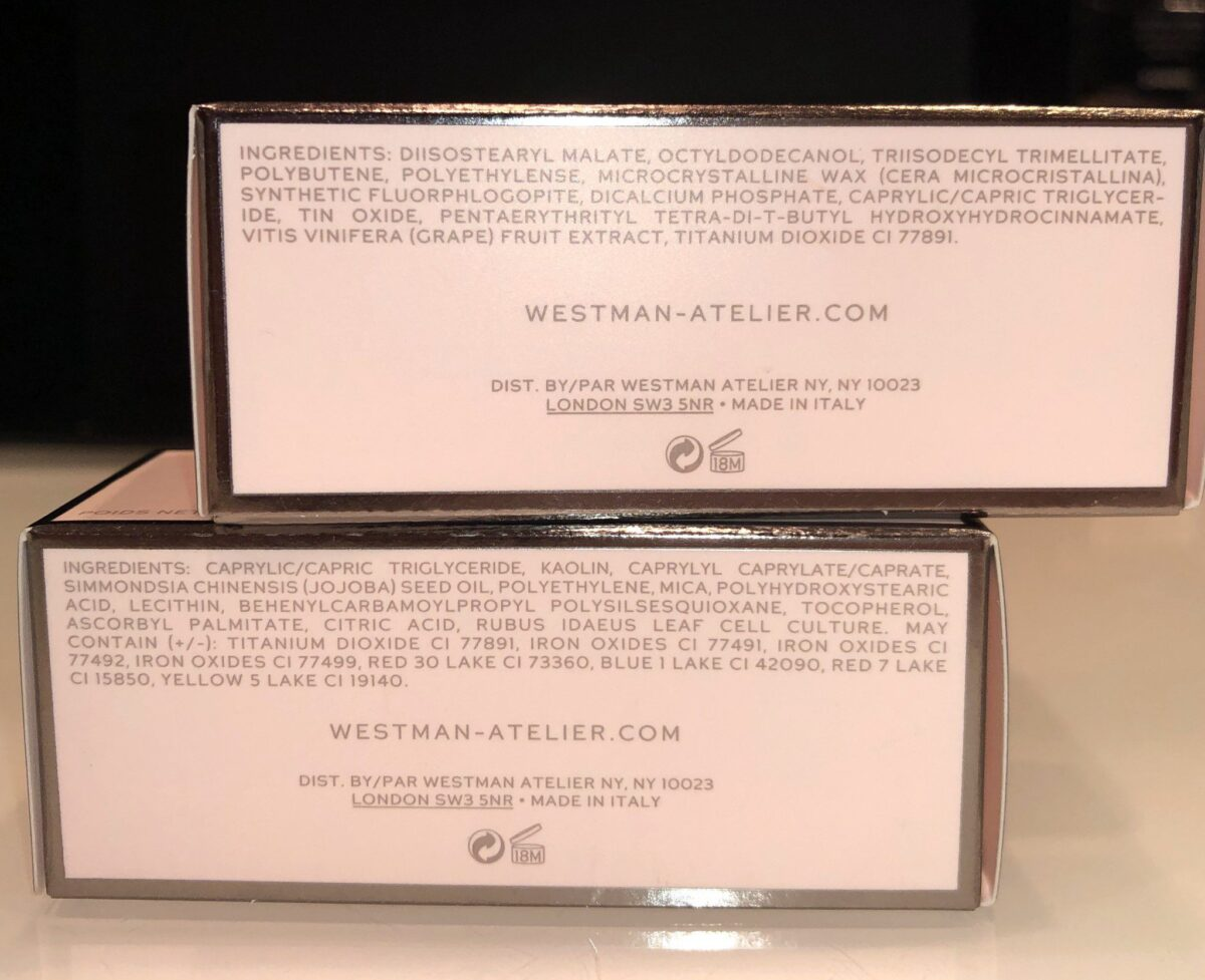 WESTMAN ATELIER STICKS INGRIDENTS FOR THE LIT STICK AND THE CONTOUR STICK