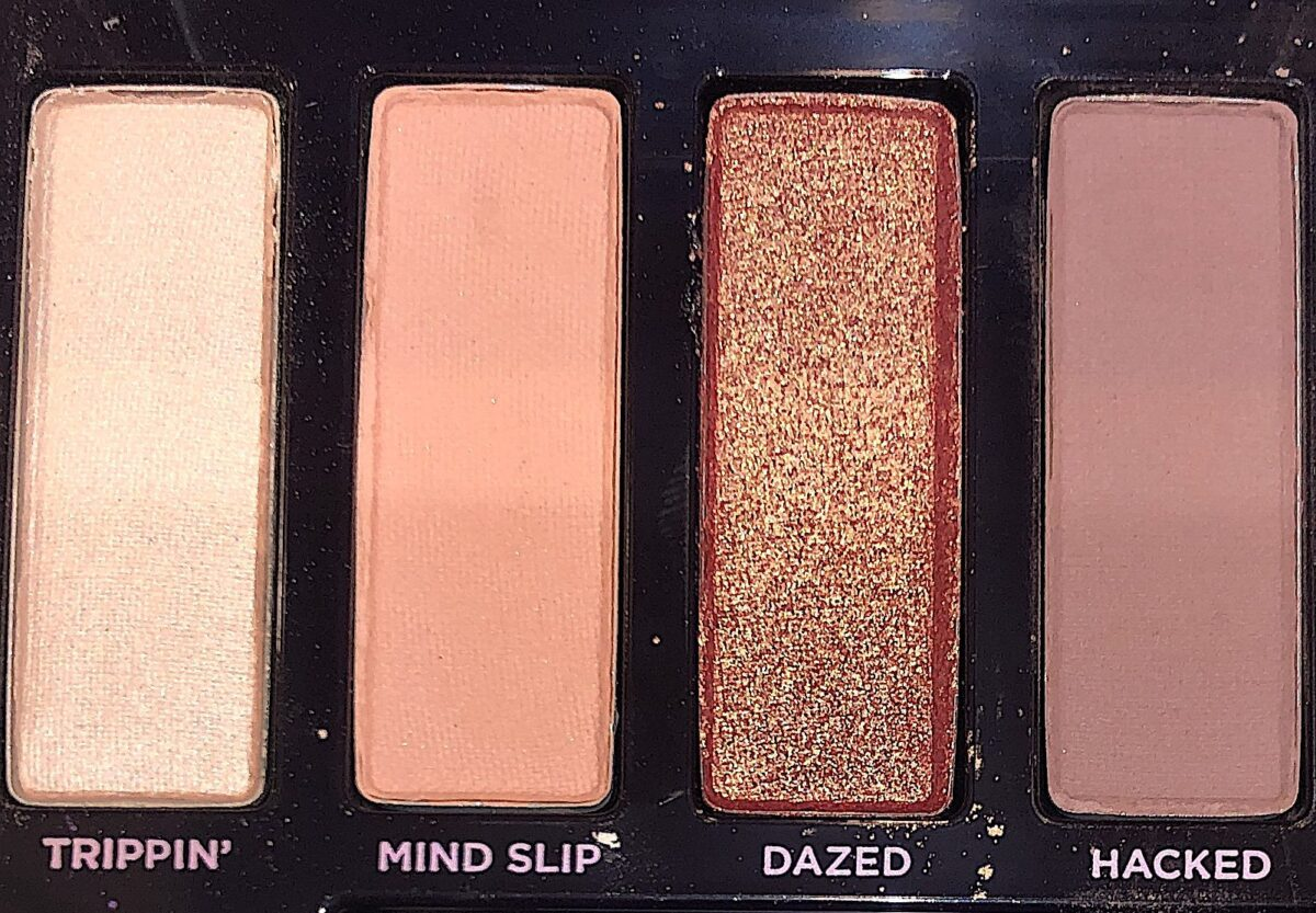 Naked Ultraviolet Palette shades Trippin, Mind Slip, Dazed, Hacked