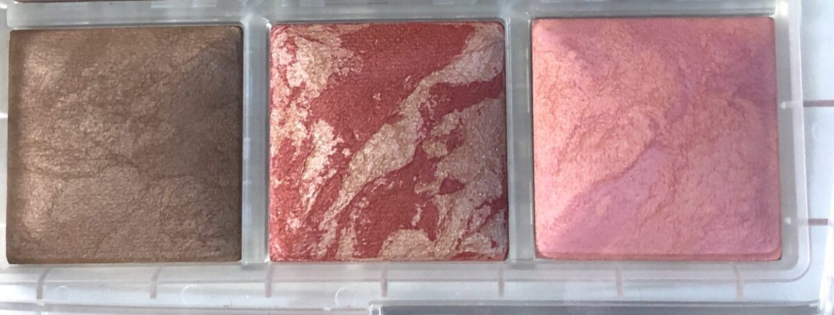 BOTTOM ROW ACROSS - ETERNAL BRONZE LIGHT, IRIDESCENT ROSE BLUSH, AND SUBLIME FLUSH BLUSH