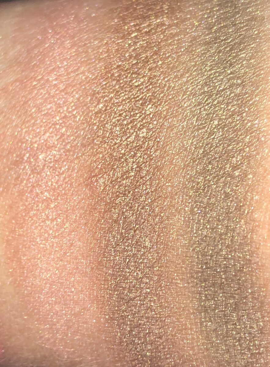 SWATCHES FOR THE DREAM GLOW SHADOWS 1, 2, AND 3
