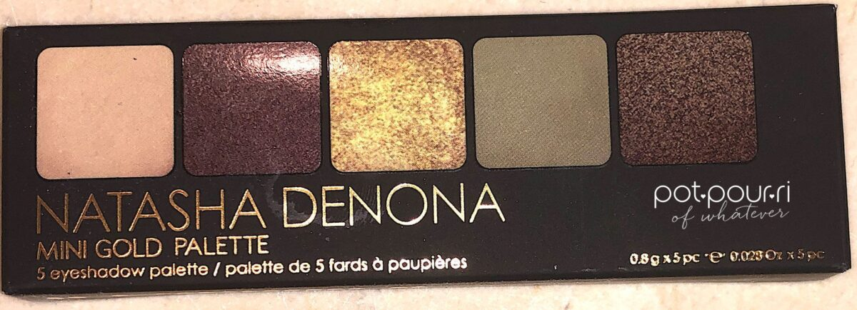MINI GOLD PALETTE PART OF THE NATASHA DENONA HOLIDAY MAKEUP 2019 COLLECTION