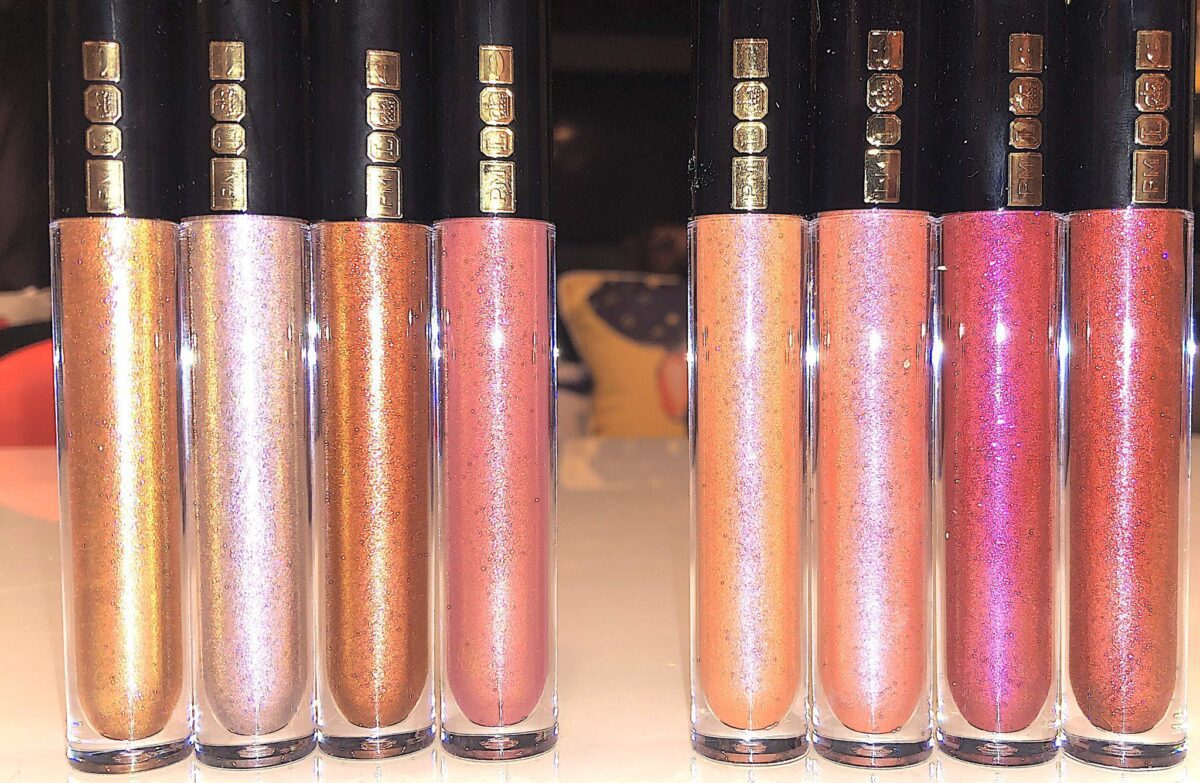 SHADES LEFT TO RIGHT: CORALIASON, UNDER YOUR SPELL, VENOMISTRESS, GLOWING GARNET, DREAMSCAPE, LAVENDARING, BRONZE SEDUCTRESS, AND NAKED ROSE