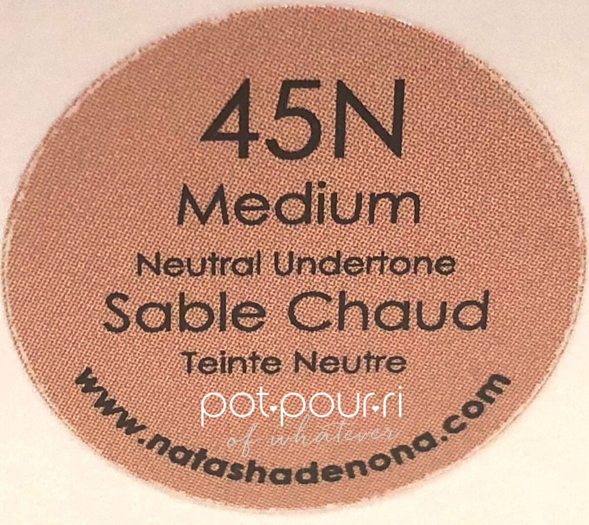 45N IS A MEDIUM SHADE THAT HAS NEUTRAL UNDERTONES