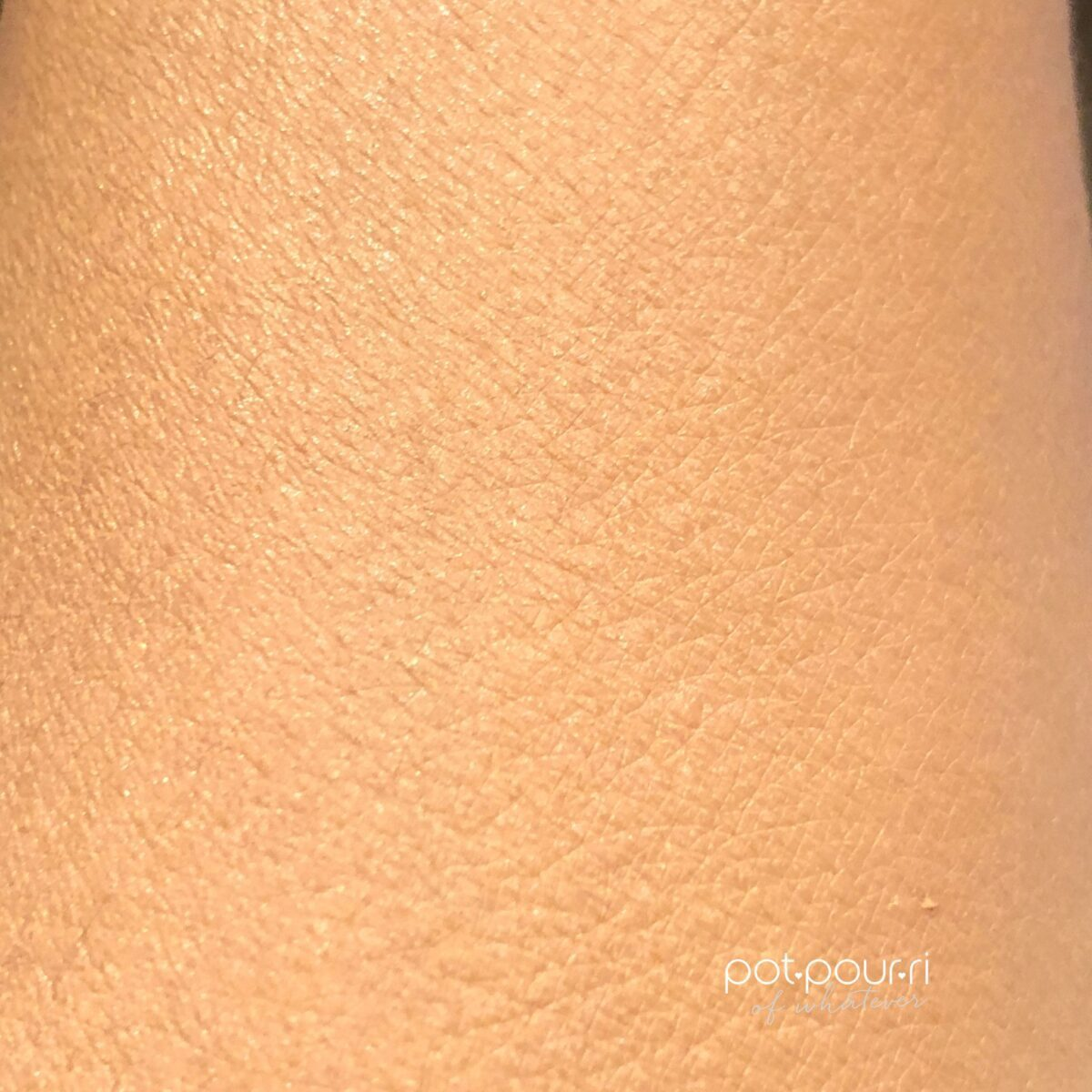 THE SWATCH 45N RUBBED INTO THE SKIN LOOKS LIKE A SECOND SKIN