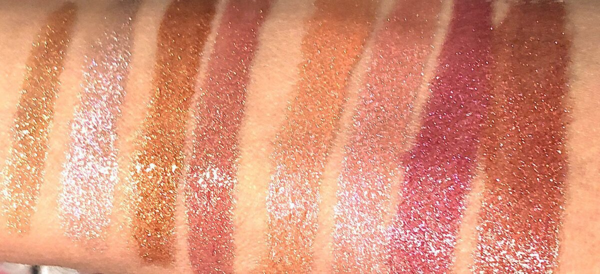 SWATCHES OF THE PAT MCGRATH OpuLUST LIP GLOSS EVERYTHING COLLECTION