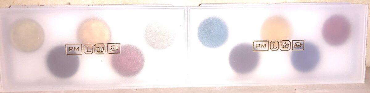 PAT MCGRATH EYE ECSTASY MINI PALETTE IN SUBVERSIVE AND SUBLIME IN THEIR COVERED CASES