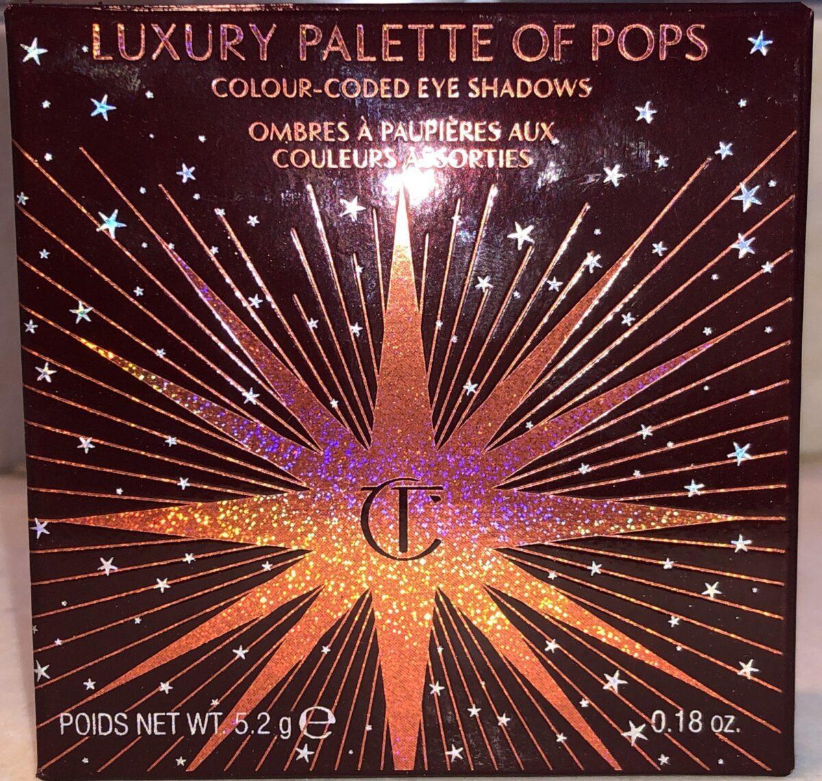 CHARLOTTE TILBURY CELESTIAL POPS PALETTE PACKAGING