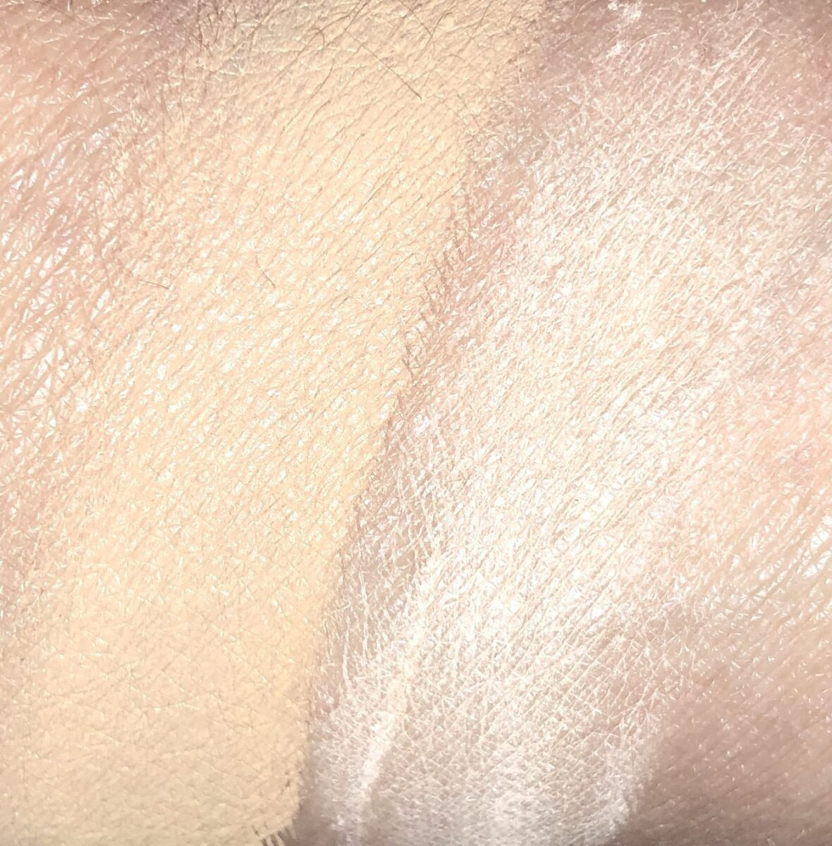 SWATCH M17-CONCEALER ON LEFT, SWATCH MEDIUM SETTING POWDER ON RIGHT