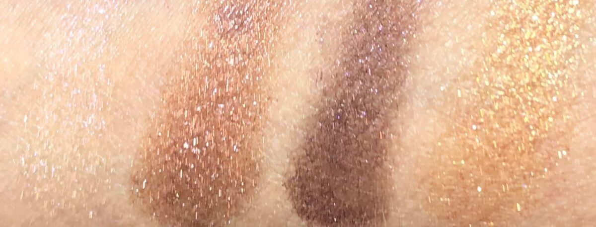 SWATCHES OF THE CHARLOTTE TILBURY CELESTIAL POPS PALETTE