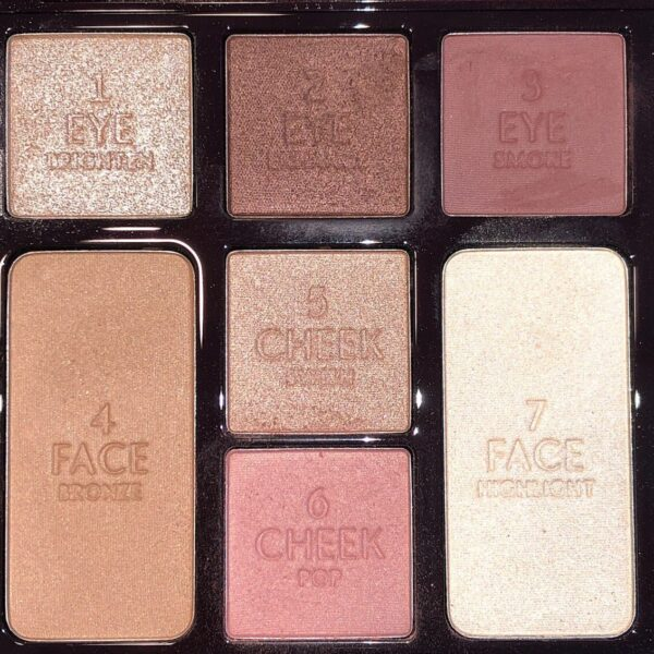 NUMBERED SHADES IN THE GORGEOUS GLOWING INSTANT FACE PALETTE