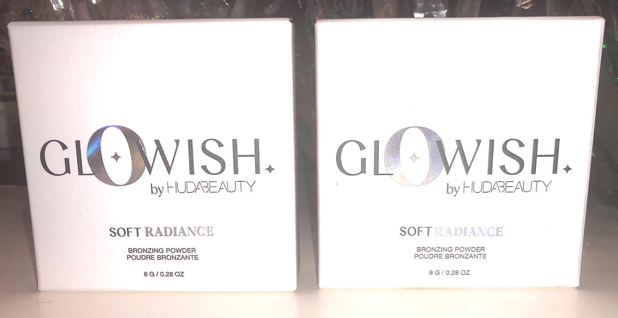 Huda Glowish Soft Radiance Bronzing Powder boxes