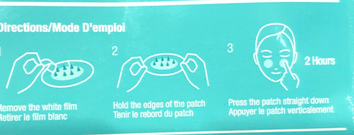 DIRECTIONS FOR APPLYING DR JART FOCUSPOT MICRO TIP PATCH