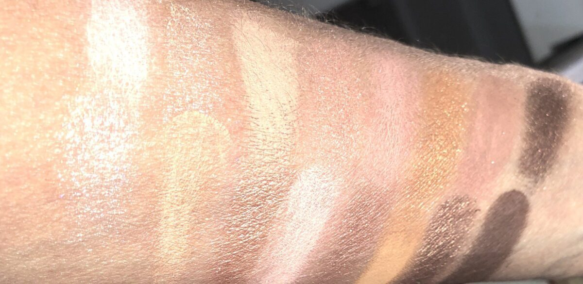 TOO FACED NATURAL NUDES EYESHADOW PALETTE SWATCHES