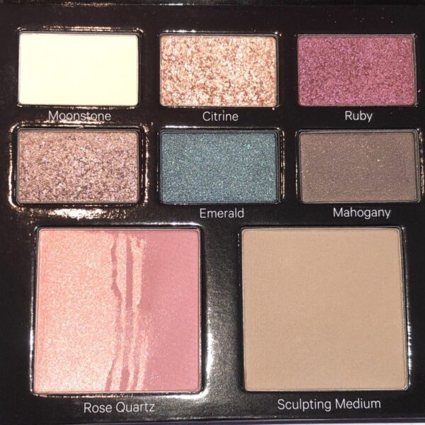 THE SHADES IN THE KEVYN AUCOIN JEWEL POP PALETTE