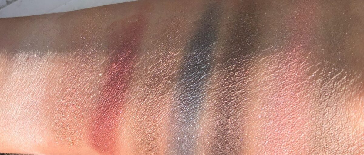 NATURAL SUNLIGHT SWATCHES OF THE KEVYN AUCOIN JEWEL POP PALETTE - TAKEN OUTSIDE!