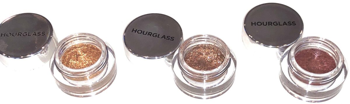 HOURGLASS SCATTERED LIGHT GLITTER EYESHADOWS IN THREE SHADES