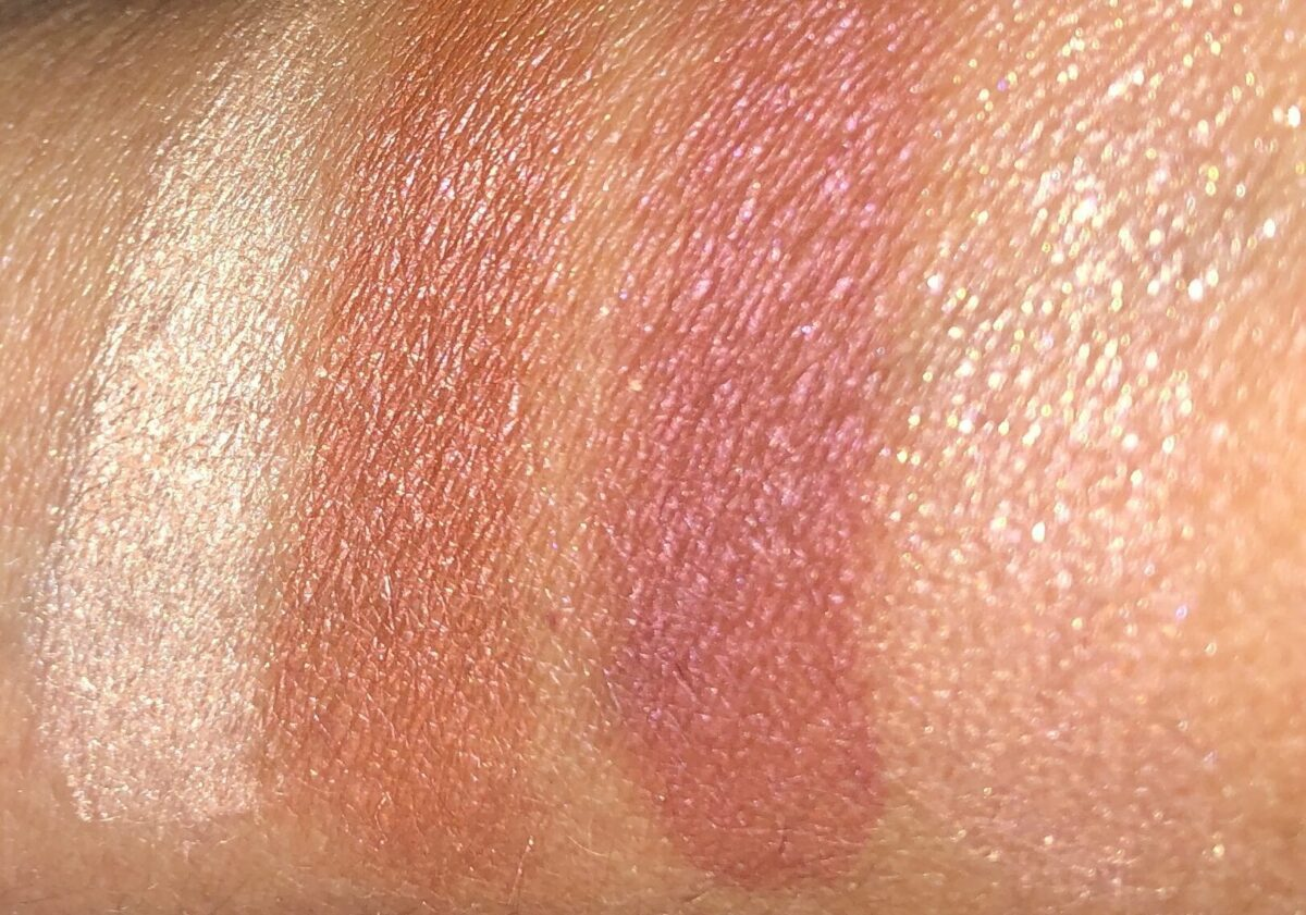 swatches l to r: prime, enhance, smoke and pop