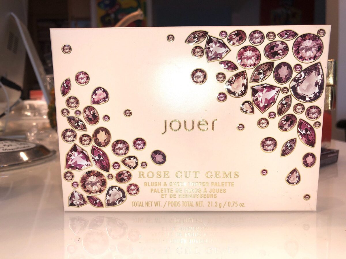 JOUER ROSE CUT GEMS BLUSH PALETE OUTER BOX