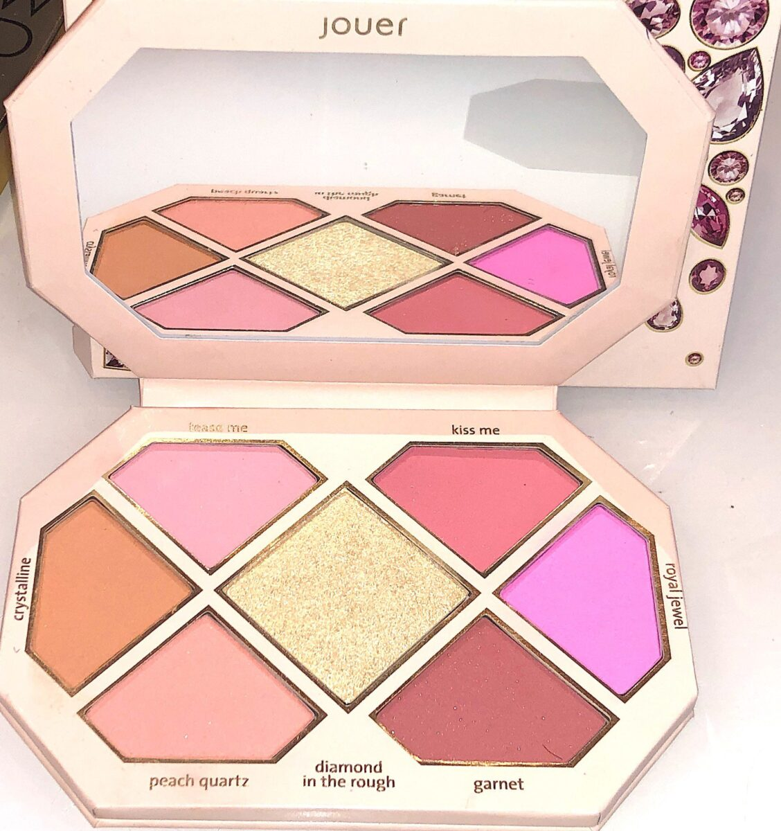 INSIDE THE JOURER ROSE CUT GEMS BLUSH PALETTE