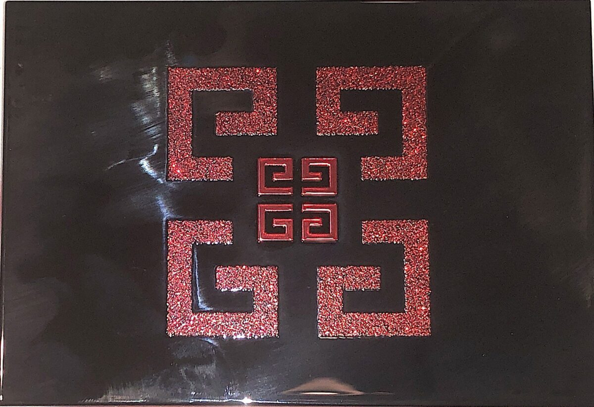 THE FRONT OF THE GIVENCHY RED EDITION PALETTE COMPACT
