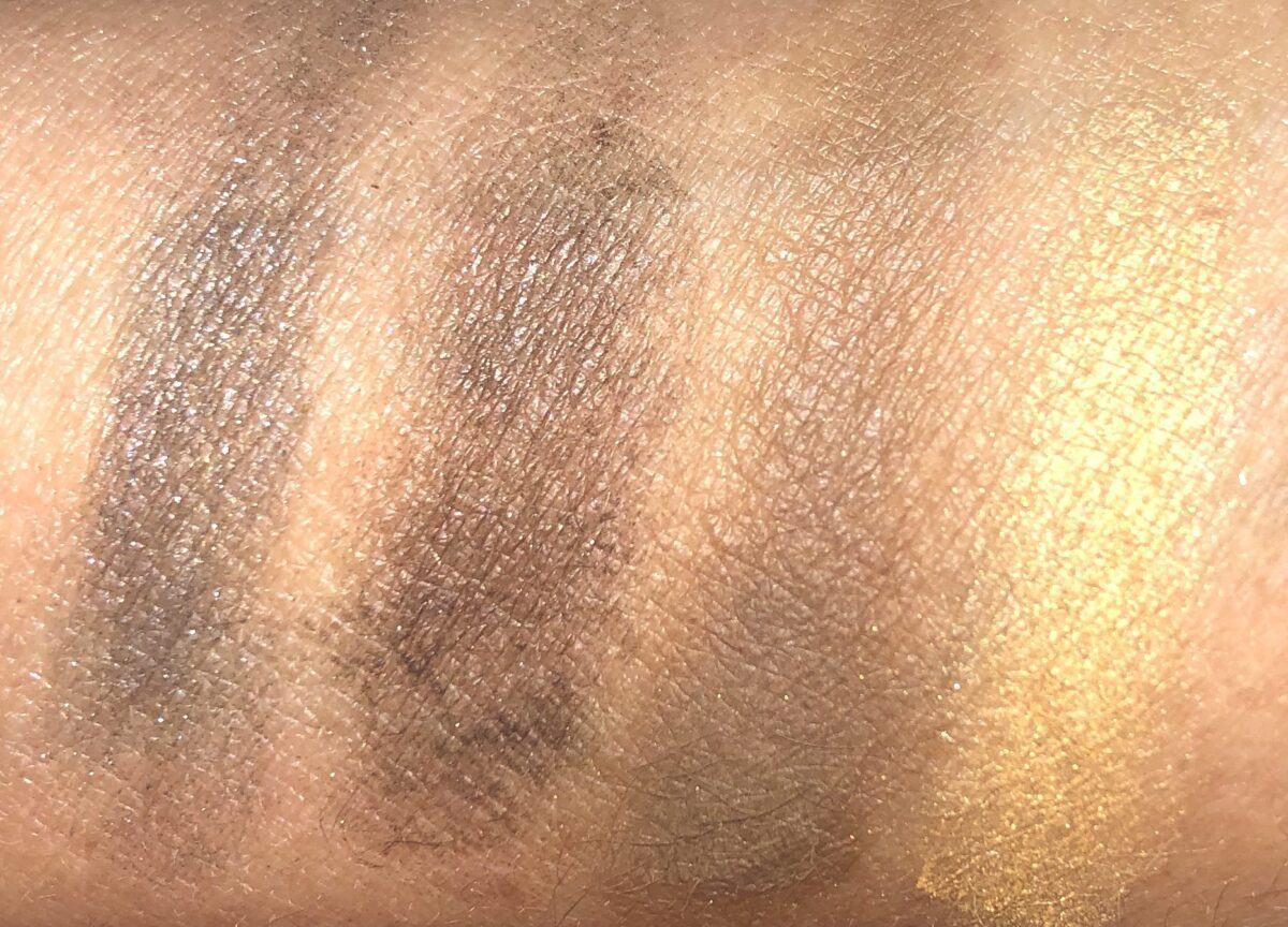SWATCHES OF THE FOUR SHADES ON THE LEFT OF THE PALETTE