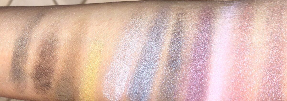 SWATCHES OF THE 12 SHADES IN THE GIVENCHY RED EDITION HOLIDAY EYESHADOW PALETTE