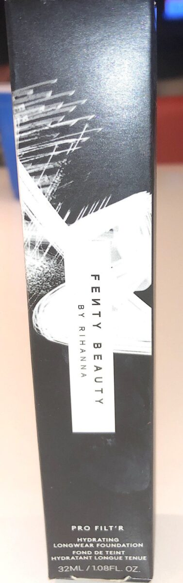 PACKAGING OUTER BOX FOR FENTY BEAUTY PRO FILTR FOUNDATION HYDRATING FORMULA