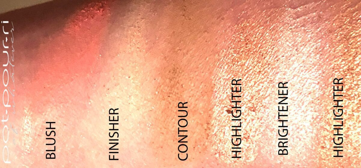 SWATCHES COVER FX PERFECTOR FACE PALETTE SWATCHES