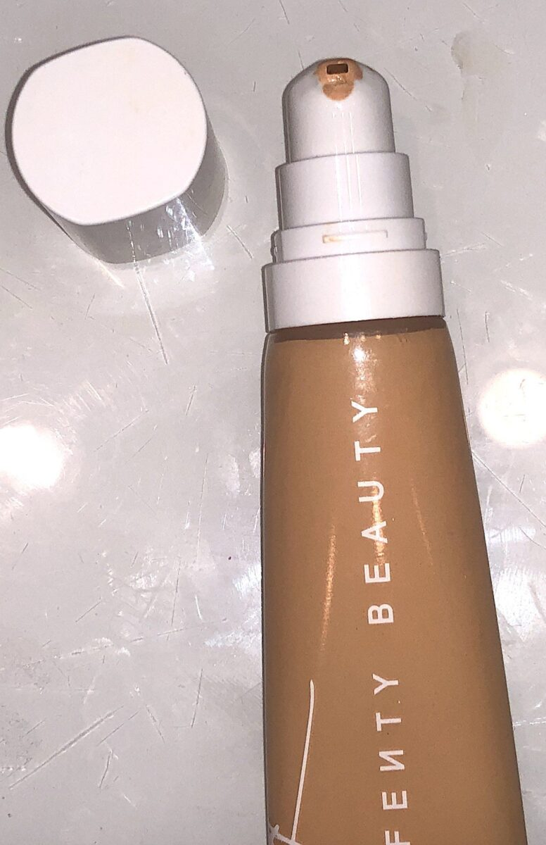 THE PUMP DISPENSER ON THE FENTY BEAUTY PRO FILTER FOUNDATION HYDRATING FORMULA