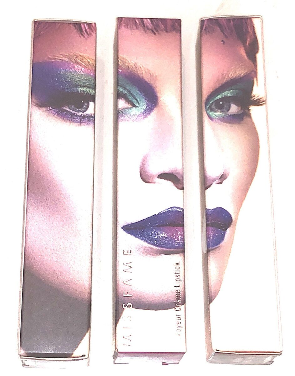 OUTER PACKAGING FOR MISS FAME VOYEUR CREAM LIPSTICK