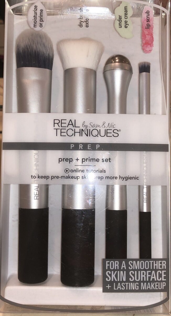 REAL TECHNIQUES PREP & PRIME BRUSH SET PACKAGING