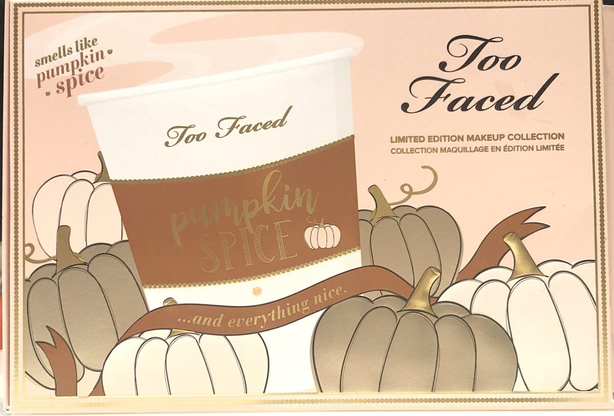 TOO FACED PUMPKIN SPICE COLLECTION OUTER BOX
