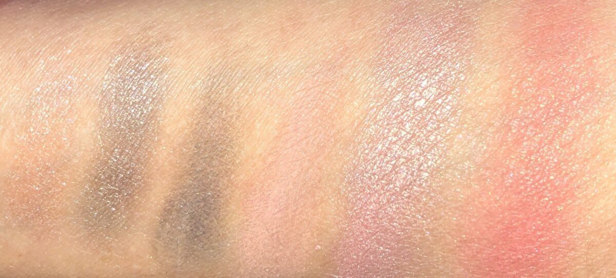 SWATCHES OF THE RETRO MINI PALETTE AND THE MINI BLOOM PALETTE