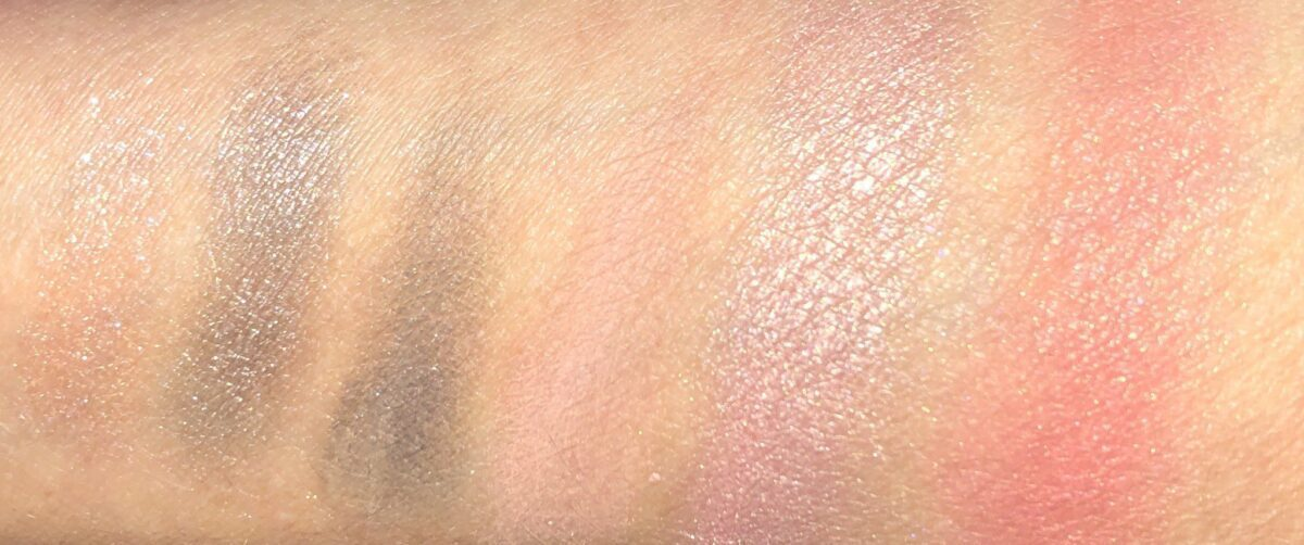MINI RETRO PALETTE SWATCHES L TO R: GALAXIA, INDUSTRIAL, 60'S, VINTAGE TAUPE AND PIXIE
