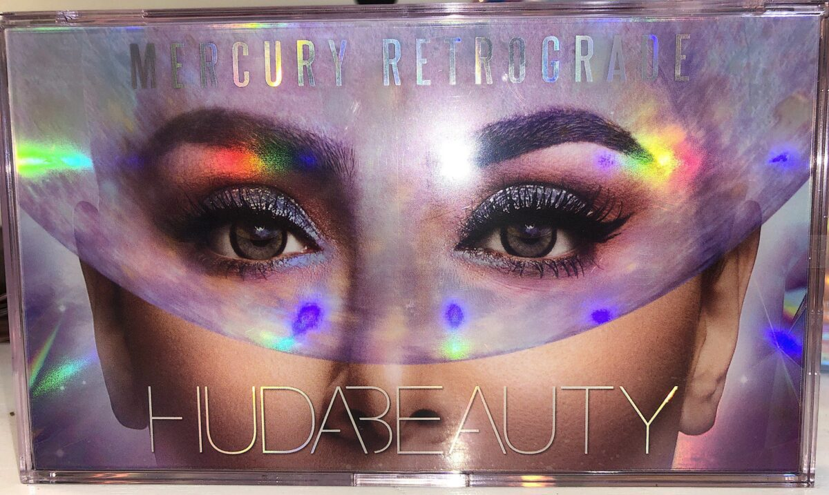 OUTER BOX FOR HUDA MERCURY RETROGRADE COLLECTION EYESHADOW PALETTE