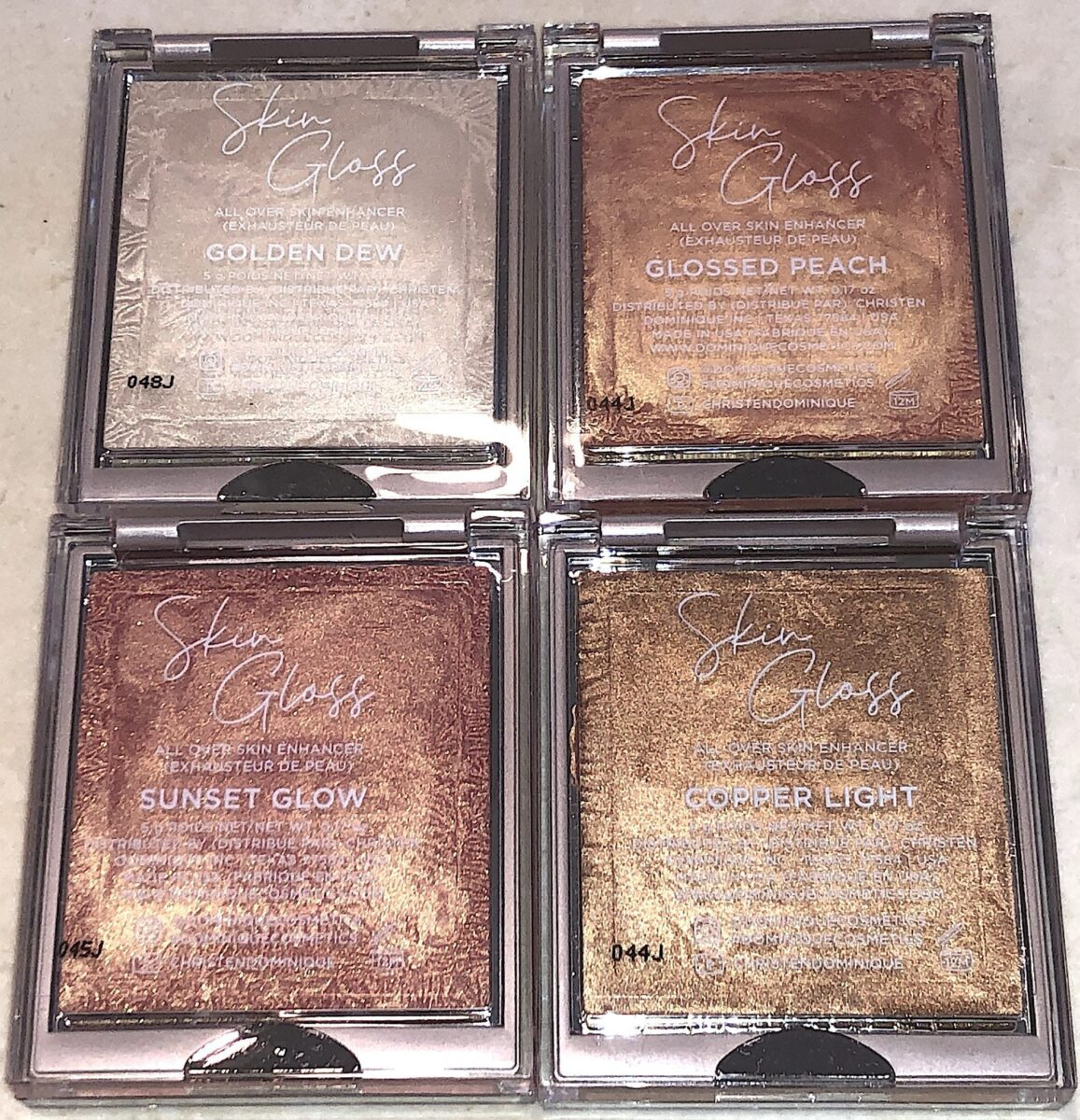 SEE THROUGH BACK OF SKIN GLOSS COMPACTS