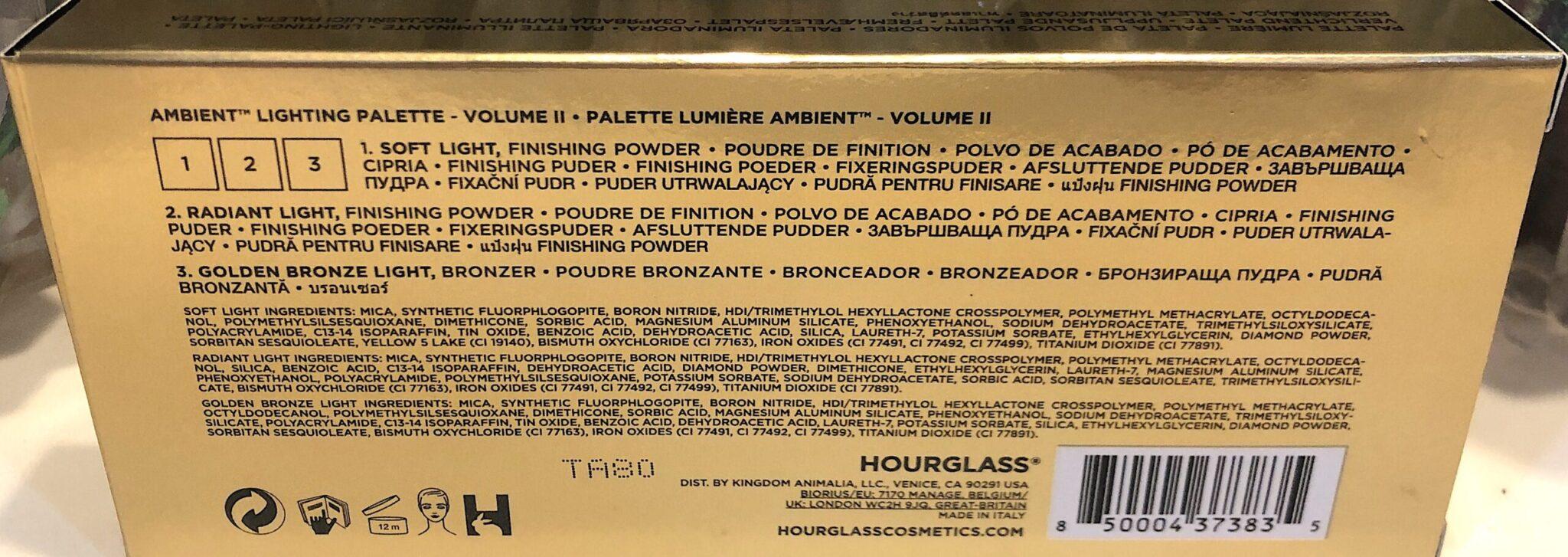 HOURGLASS AMBIENT LIGHTING PALETTE VOL 11 INGREDIENTS