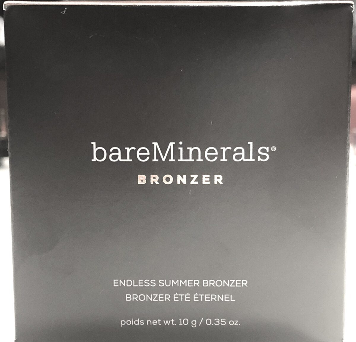 OUTER BOX PACKAING BAREMINERALS ENDLESS SUMMER BRONZER POWDER