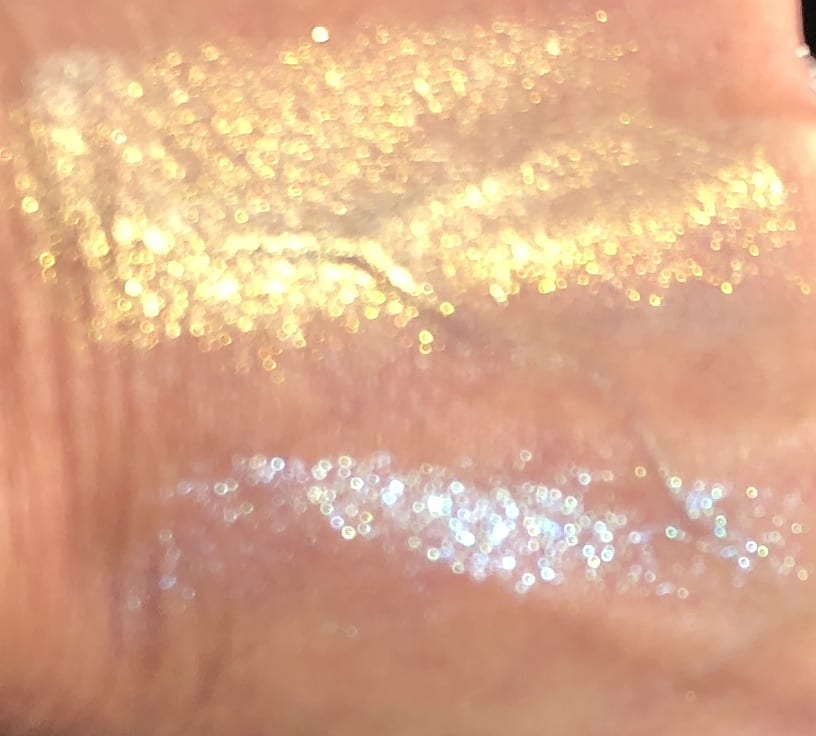 LIGHT HITTING THE PALE GOLD 002 AND THE ASTRAL BLUE STAR SWATCHES