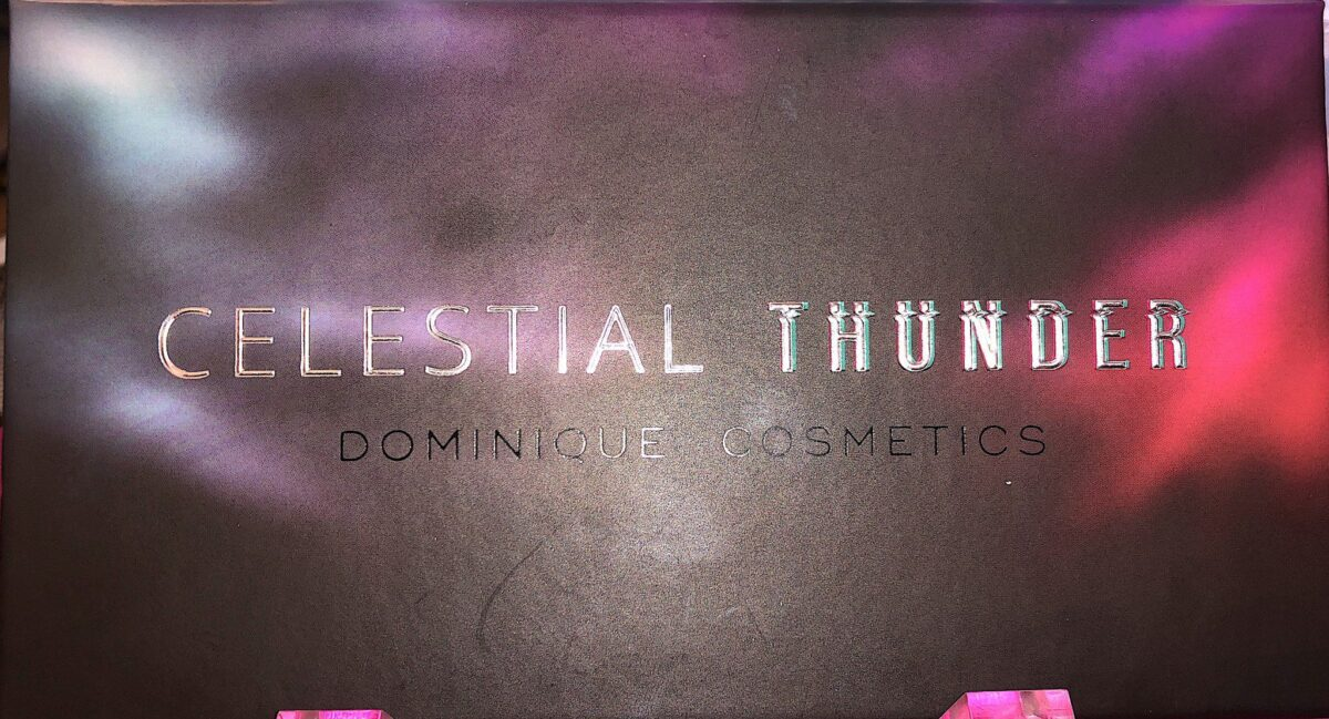 THE DOMINIQUE COSMETICS CELESTIAL THUNDER EYESHADOW PALETTE CASE