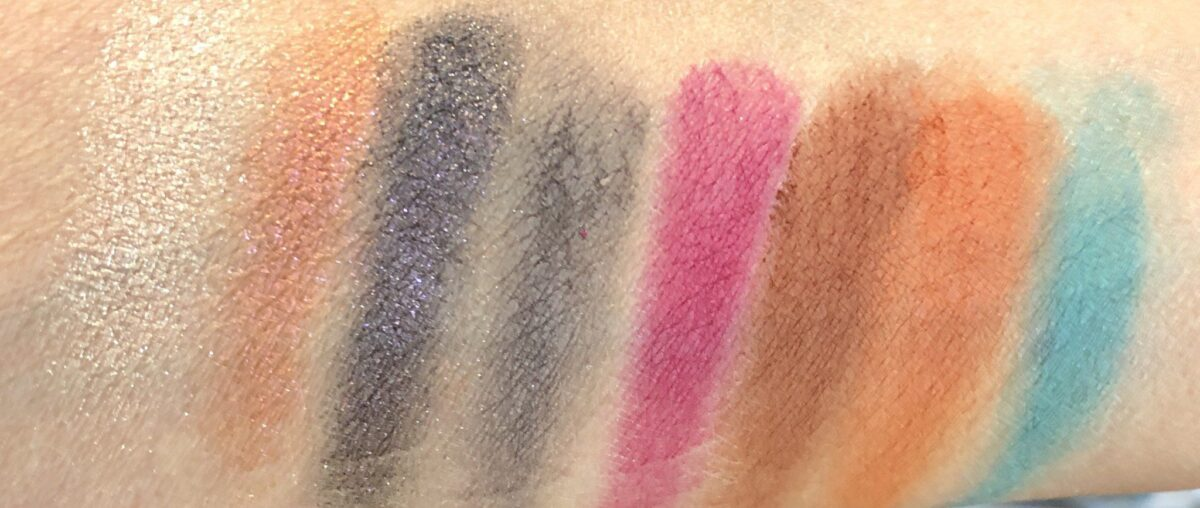 SWATCHES OF THE RICH DARK SHADES IN THE DOMINIQUE CELESTIAL PALETTE